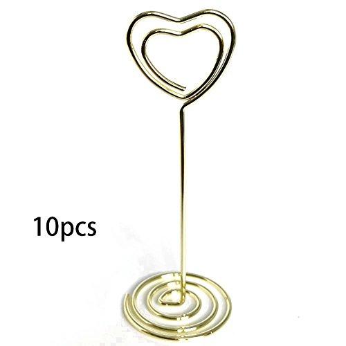 geformt Party Tischkarte Liebe Name Stand Event Herz Hochzeit Clips(Gold) ()