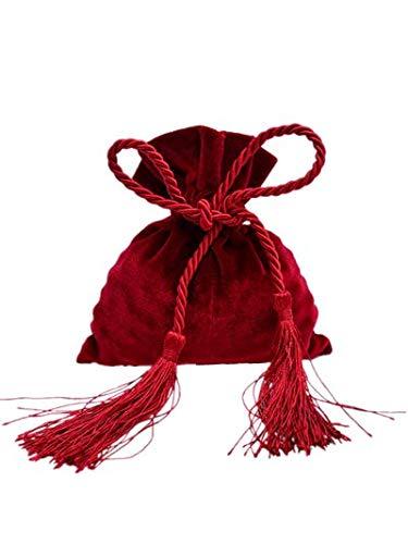 PANGUN 10Pcs Bundle Samt Tasche Hochzeit Gemischt Hand Geschenk Box Bundle Tasche Geschenk Box Kreative Samt Tasche Candy Bag-Rot