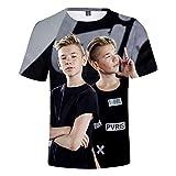 KJYAYA Zwillinge Marcus & Martinus 3D Männer T-Shirt Oberer Kurzer Ärmel Trendy Wilde Kleidung Geschenke Für Fans