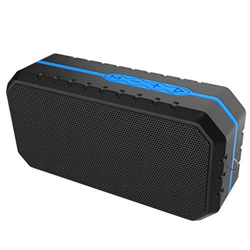 Altavoz impermeable al aire libre de IPX4 Bluetooth, jugador de audio portátil inalámbrico de FM de la tarjeta del TF (Color : Azul)