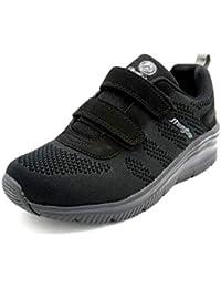 J´Hayber Chelupe Black - Zapatilla de Velcro con cuña y Plantilla Memory