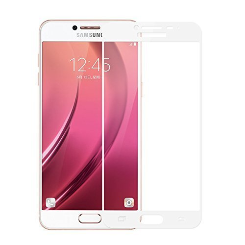 Full Body Tempered For Samsung Galaxy On Max, Roxel (TM) 3D Arc Edge Full Body Front Edge to Edge Tempered Glass Screen Scratch Guard Protector for Samsung Galaxy On Max (Gold, 32 GB)/Samsung Galaxy On Max (Black, 32 GB) - Royal White  available at amazon for Rs.259
