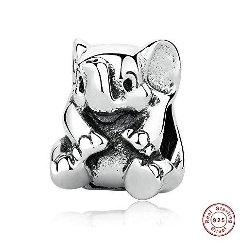 chicbuy europäischen Fashion Sommer Lucky Elefant Tier Perlen 925Sterling Silber DIY passt für Pandora Charms Armbänder Charm Schmuck