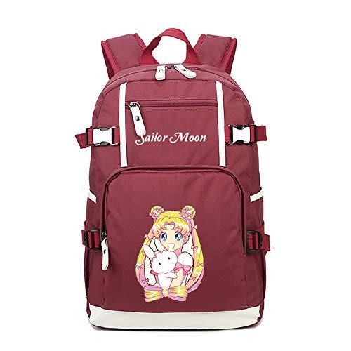 RuiHai Trading Sailor Moon Anime Rucksack mit großer Kapazität (Sailor Moon Artemis Kostüm)