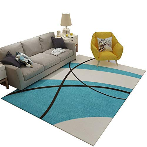 BAIF Wohnzimmer Rutschfester Teppich, Schlafzimmer Computer Stuhl Drehstuhl Teppiche Bodenmatte (Größe: Durchmesser-80 cm)