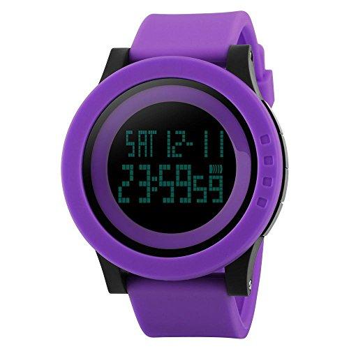 electronic-watch-men-s-waterproof-sports-multi-function-watch-purple
