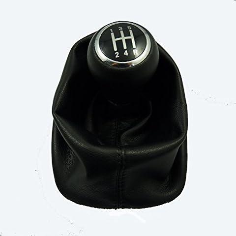 Nuevo Pomo de palanca de cambio de arranque Gaitor 5velocidad negro ajuste para Audi A6C51998–2001