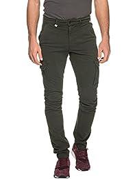 Franklin & Marshall Men's Men's Dark Green Trousers Cotton