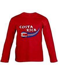 Supportershop – Camiseta para niño Costa Rica L/S, Rojo, FR: XL