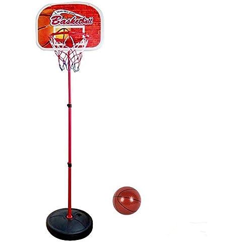Ajustable Baloncesto Conjunto de Juguete Tubos Aro Pelotas Aire libre y Interior Deportes Actividades Para niños de 3 años y