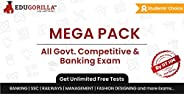 (All Exam's) Mega Pack Mock Test 2020 | Unlimited Online Test Series & Speed Tests | 3 Month Subscript