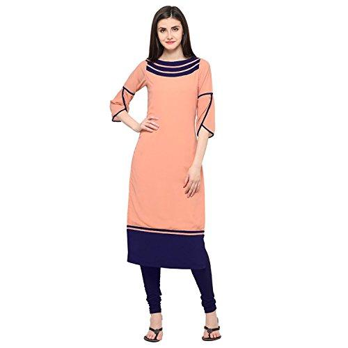 Kurti(V.K.Creation new designer kurti for woman orange color kurti kurti for womens under 500 kurti for women latest design kurti for womens stylish kurti for womens below 300 kurti for girls stylish