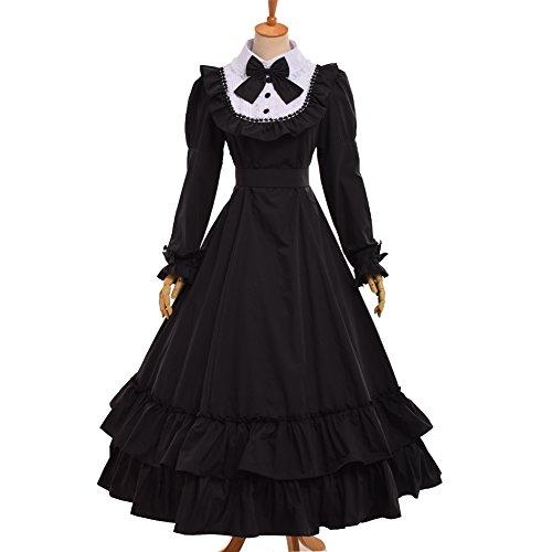Renaissance Kostüm Reenactment - BLESSUME gotisch viktorianisch Frack Steampunk VTG Mantel Jacke Halloween Cosplay Kostüm (3XL, Schwarz)
