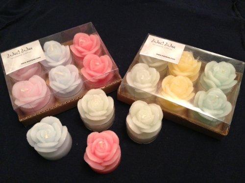 wasiwax 6Duft Rosen Teelichter in verschiedenen Farben (Rose Light Tea)