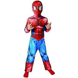 Rubies - Disfraz oficial de Spiderman para niños, talla S - 104cm - Edad 3-4