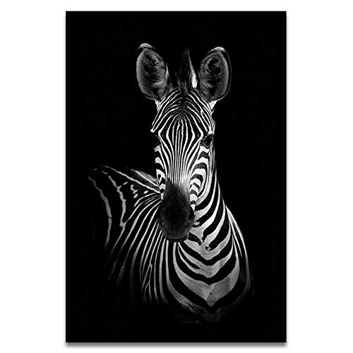 WSWWYCartel Lona Animal Decoración Pintura Arte Blanco