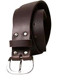 steel roller buckle full-grain leather black FRONHOFER Classic men/'s belt
