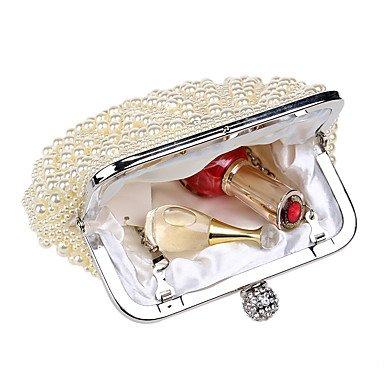 Woman Fashion Luxus Hochwertige Imitation Pearl Shell Form Abend Tasche apricot