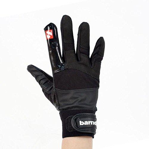 FRG-01 American Football Handschuhe Receiver, schwarz (L) (Gepolsterte Football Handschuhe)