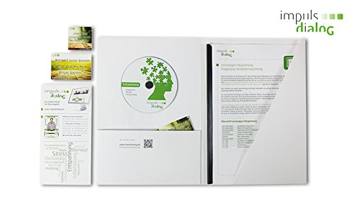 DVD Lernmappe Stressmanagement + Achtsamkeitsübungen inkl. 10-Wochen E-Learning für Zuhause | Stress- und Burnout-Prävention | Lernmappen von Psychologen entwickelt | inkl. Lernvideos, 7 verschiedene Audiodateien, 30 Seiten Info- und Übungsblätter + Lern-DVD von Impulsdialog®