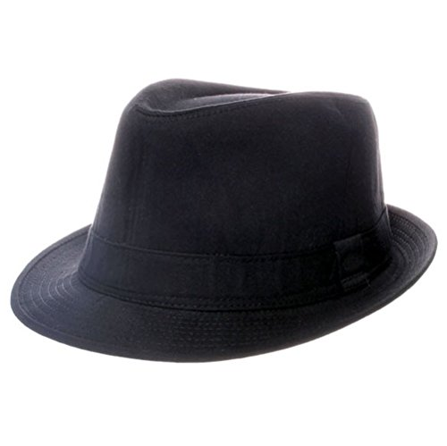 Chapeau Coton Noir Uni Trilby: 58cm