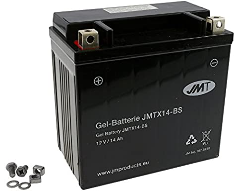 Batterie JMT GEL - YTX14-BS 12 Volt - Kawasaki KVF 650 B Advantage CL année de construction 2003