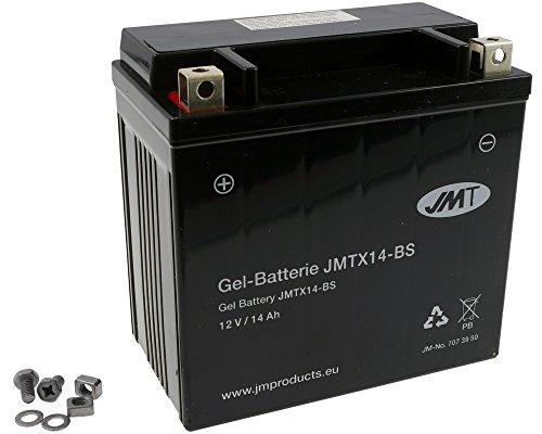 Batterie JMT GEL - YTX14-BS 12 Volt - Buell XB12S 1200 Lightning Bj. 2005-2009 [ inkl.7.50 EUR Batteriepfand ]