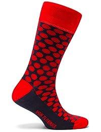 Calcetines ejecutivos 100% algodón – disponibles en varios colores – lunares – para hombre by VON FLOERKE