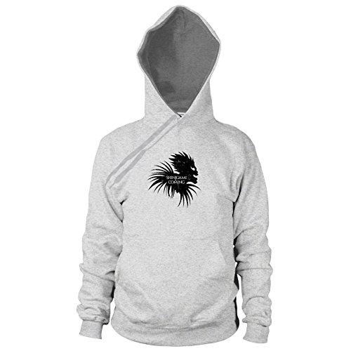 - Herren Hooded Sweater, Größe: M, Farbe: grau meliert (Der Sensenmann Halloween-kostüm)