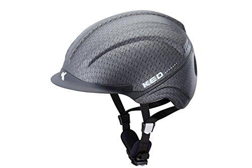 KED Reithelm Kanauro Kopfumfang 55-60cm, Größe L, Farbe Black Anthracite Matt, Sportlicher Reithelm, der perfekt sitzt und maximale Sicherheit bietet!