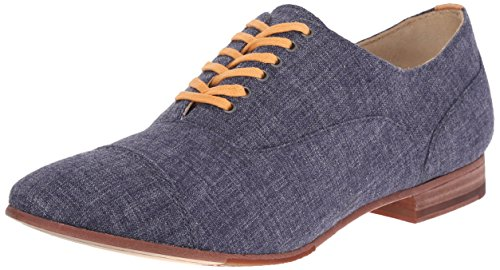 Sebago Women's Hutton Cap Toe Boot Navy Linen
