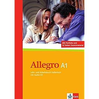 Allegro A1: Lehr- und Arbeitsbuch + Portfolio + Zusatzmaterial + Audio-CD