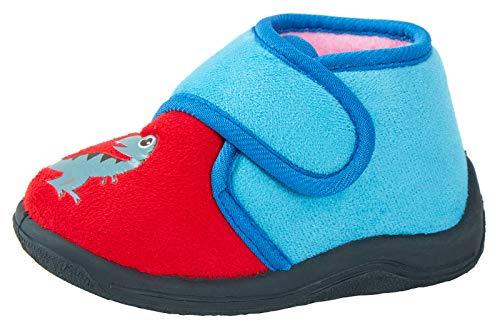 Lora Dora Kinder Hausschuhe, Blau - Baby Dinosaur - Größe: 26 EU