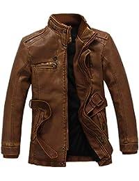 21e50328616f Ledermantel Lederjacke Herren Lederjacken Kunstlederjacke Männer Leder Nner  Trenchcoat Jacket Pu Mantel Wesentlich…
