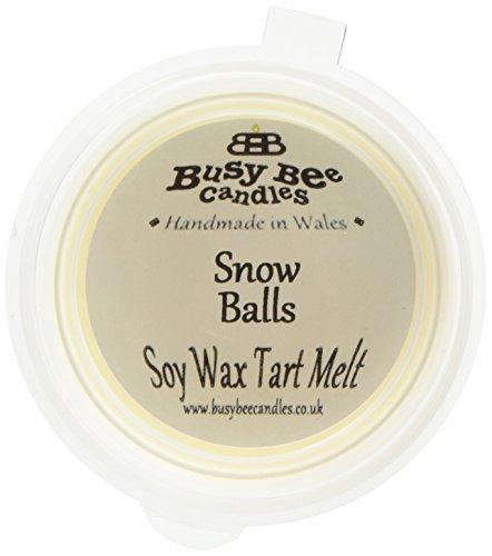 Scheda dettagliata Busy Bee Candles Snow-Palline di Cera profumata Melt, Colore: Bianco, Confezione da 6