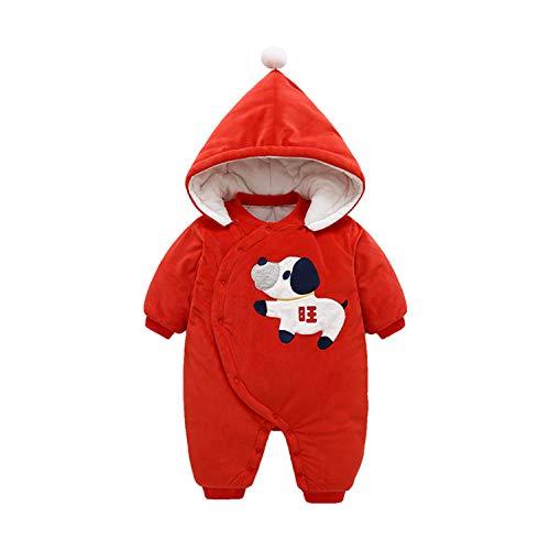 AIBAB Neugeborenes Kleider Baumwolle Plus Samt Strampler Schön Karikatur Baby Onesies Winter Mantel Aus Baumwolle Lange Ärmel Mit Kapuze