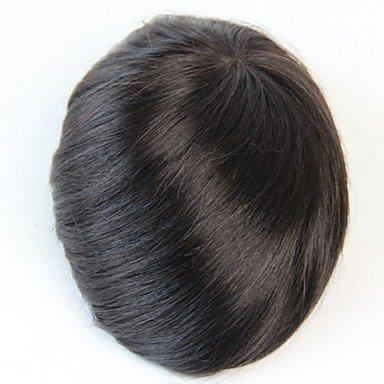 La peluca GY Pelucas de la manera Toupees para De Hombres Cabello natural Rectos