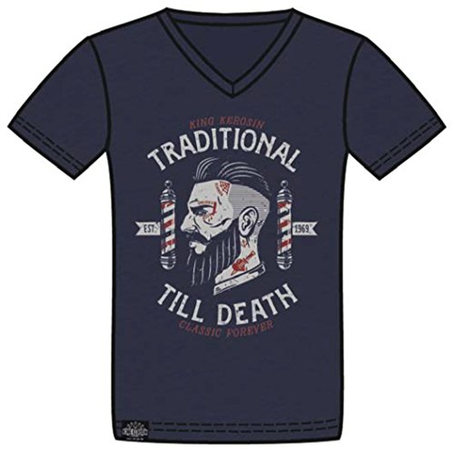 King Kerosin T-Shirt Traditional Navy Navy