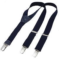 DonDon Bretelle bambino 2 cm fini e regolabili, altezza 80 - 110 cm, 1 - (Vestito Blu Camicia A Righe)