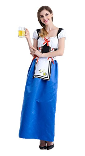 Honeystore Damen Halloween Kostüme The Munich Oktoberfest Fashion Uniform Cosplay Allerheiligen Kleider für Oktoberfest Dunkelblau XL (Cosplay-accessoires Piece One)