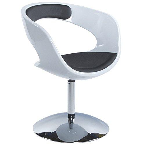 Miliboo - Chaise/fauteuil design rétro blanc et noir GROOVY