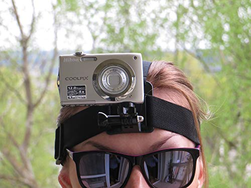 Designo Head Helmgurt Band Halterung für Digital Kameras zu verwenden wie Action Kameras passt universal Canon Nikon Sony Samsung Olympus Vivitar dvr783hd GoPro 4Gee Vivitar Digital Cam