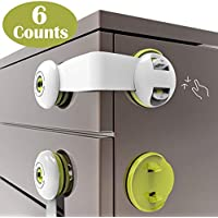 SMBOX Child Safety Cupboard Locks Stick On Child Lock for Kitchen Cupboards Self Adhesive Baby Proofing Cabinet Latch Children Proof Latches for Door, Drawer, Closet, Fridge, Refrigerator, Trash