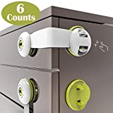 SMBOX Child Safety Cupboard Locks Stick On Child Locks for Kitchen Cupboards Self Adhesive Baby Proofing Cabinet Latch for Door, Drawer, Closet, Fridge, Refrigerator, Trash, Oven, Dishwasher