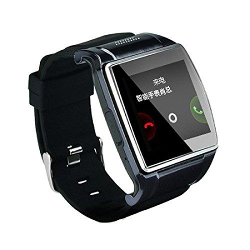 Amlaiworld Smart watch,Bluetooth v 3.0 Smart Wrist Watch 2.0 MP fotocamera per Android (nero)