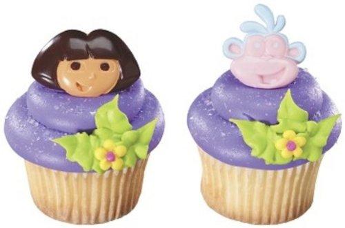 Dora the Explorer DOS Amigos Geburtstag Party Cupcake Ring-24Gastgeschenken PCS (The Birthday Dora Explorer)