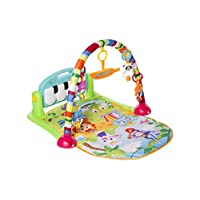 MooToys Kick and Play Newborn Toy with Piano for Baby 1 - 36 Month, Lay and Play, Sit and Play, Activity Toys, Play Mat Activity Gym for Baby. Blue (MT-103)