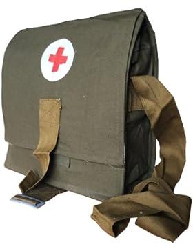 UdSSR Sowjetunion Russian Army Military Tablet Medical Messenger Tasche, rotes Kreuz