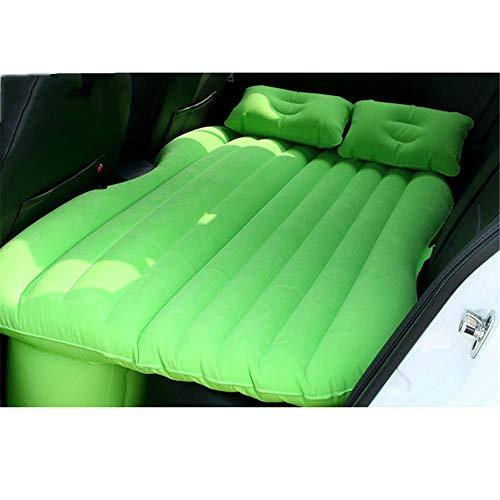 WERSDF Auto Reise Aufblasbare Matratze Luftbett Kissen Camping Erweiterte Luft Couch138 * 85 * 10 cm,Green