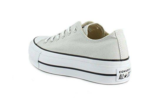Converse Damen CTAS Lift Ox Mouse/White/Black Sneaker Grau (Mouse/White/Black 050)